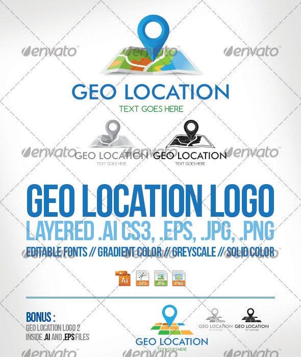 Geo Location Logo Template - Objects Logo Templates