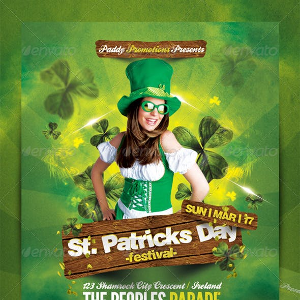 St. Patricks Day Flyer Template 2
