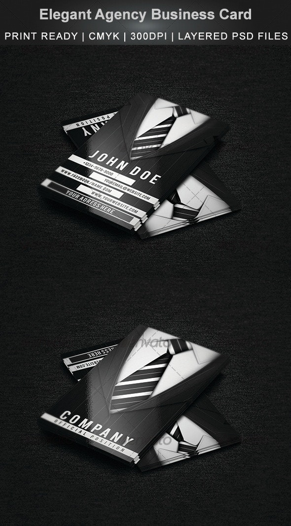 Elegant Agency Business Card - Creative Business Cards