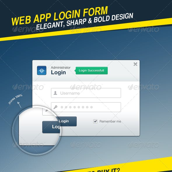 Web App Login Form