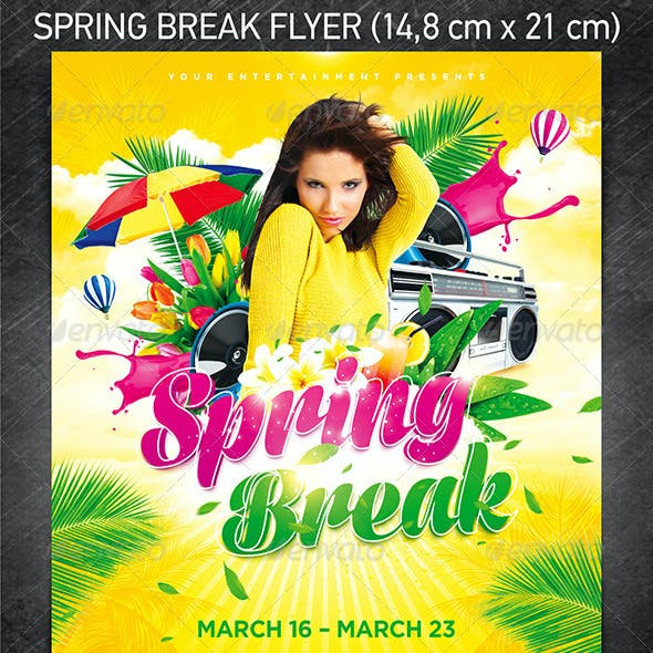 Spring Break Party Flyer