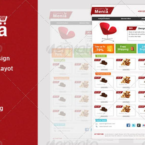 Shoppers Menia Email Newsletter