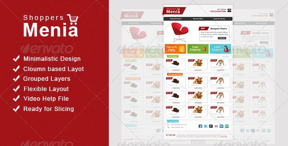 Shoppers Menia Email Newsletter - E-newsletters Web Elements