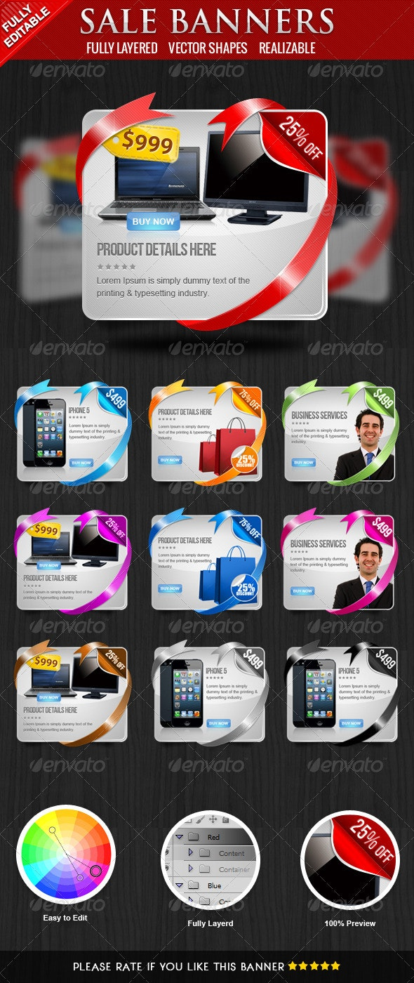 Coupon Banners  - Banners & Ads Web Elements