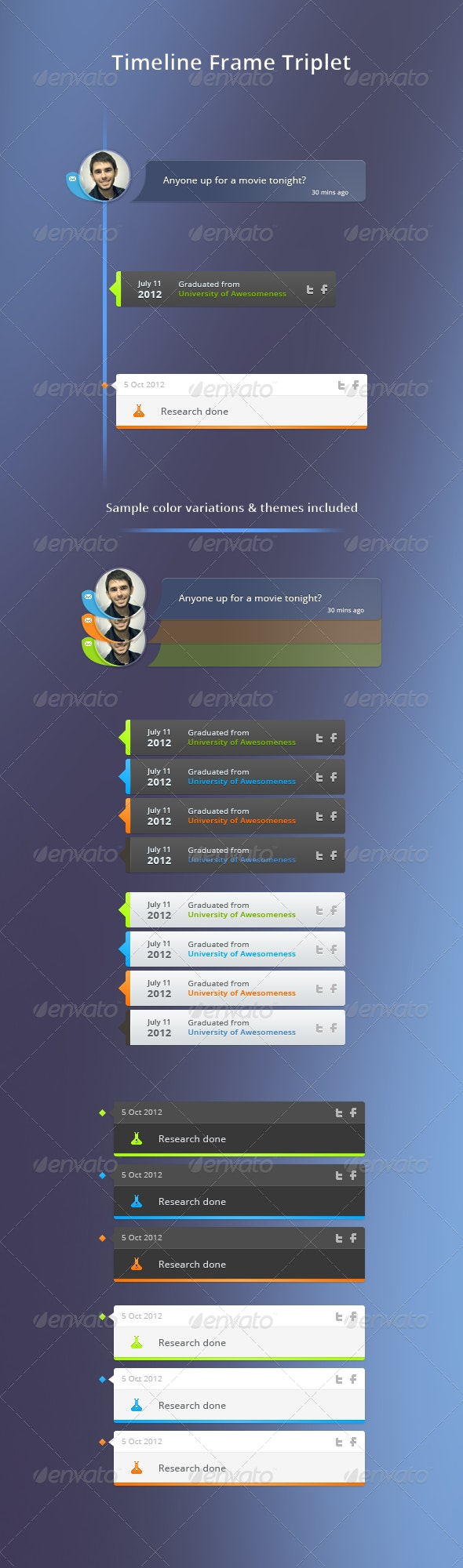 Timeline frame triplet - Miscellaneous Web Elements