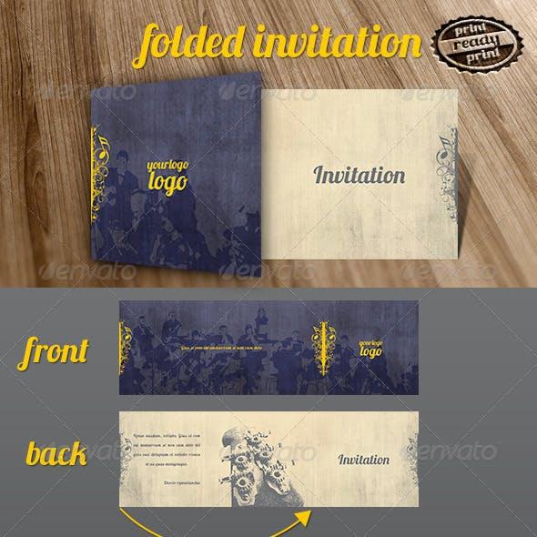 Music Folded Invitation