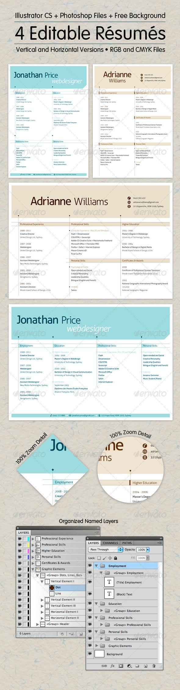 Editable Resume Collection - Resumes Stationery