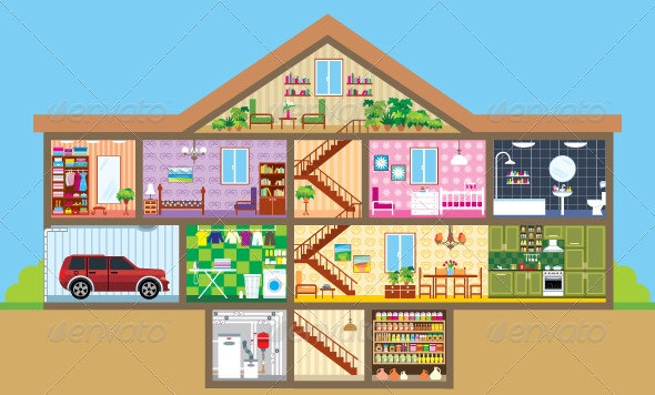 House in a Cut - Buildings Objects
