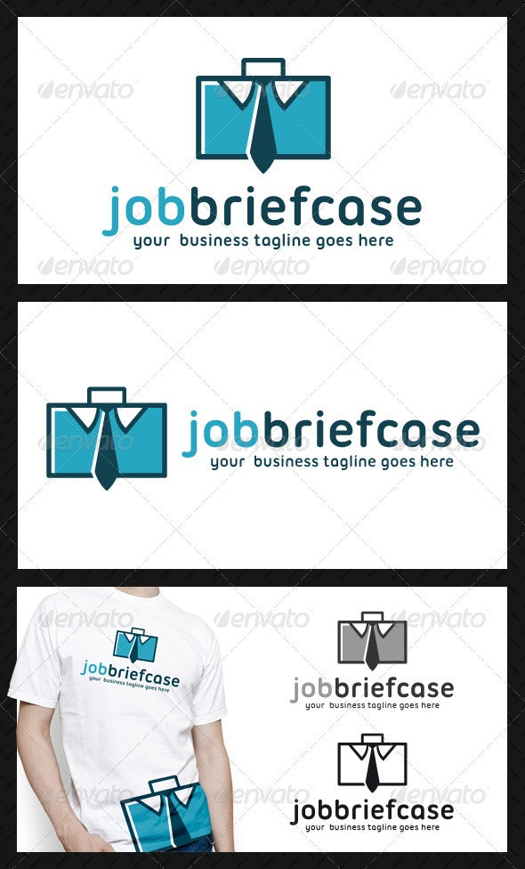 Job Briefcase Logo Template - Objects Logo Templates
