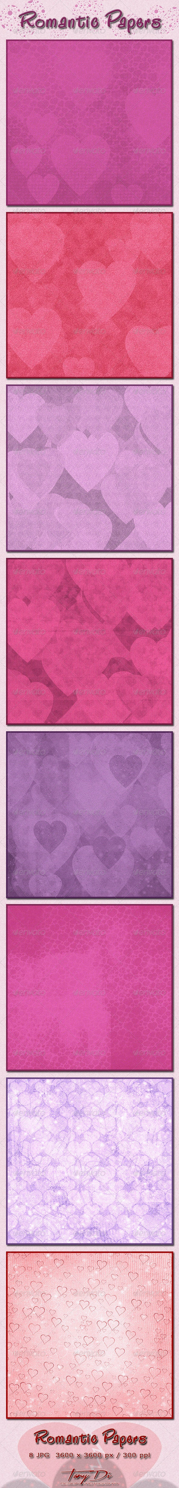 Romantic Papers - Paper Textures