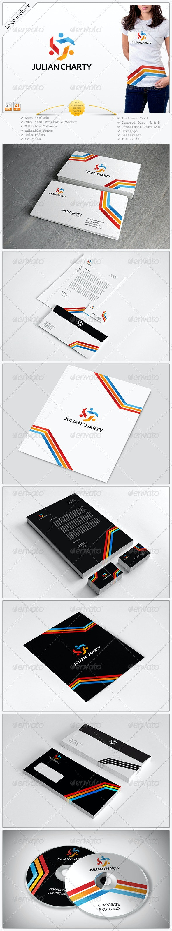 Two in One Corporate Identity - Stationery Print Templates