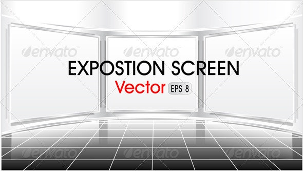 Exposition screen - Objects Vectors