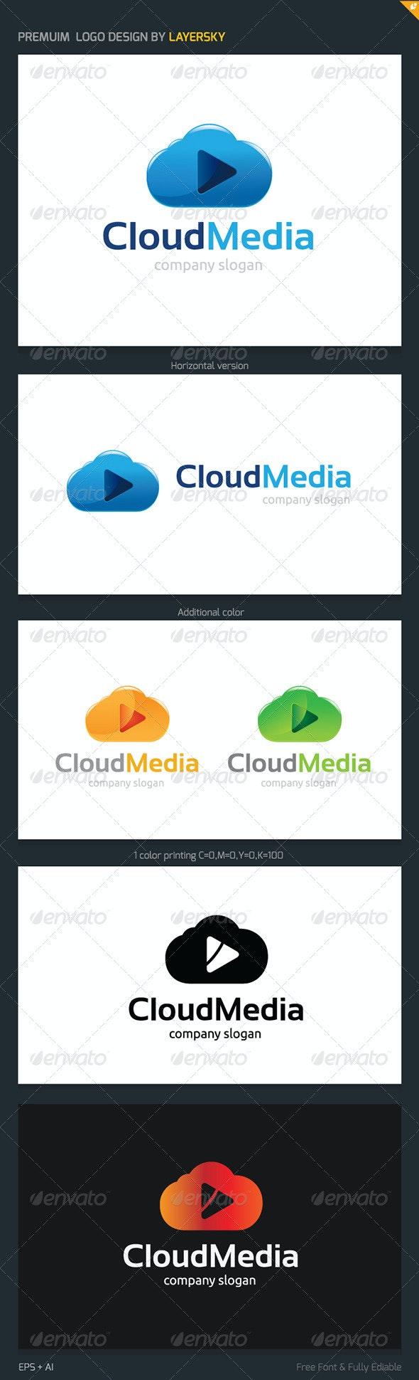Cloud Media Logo - Nature Logo Templates