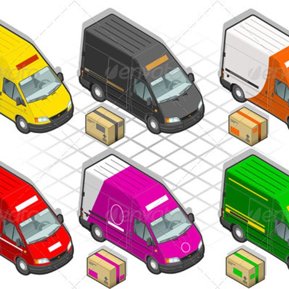 Isometric Delivery Van in Six Livery