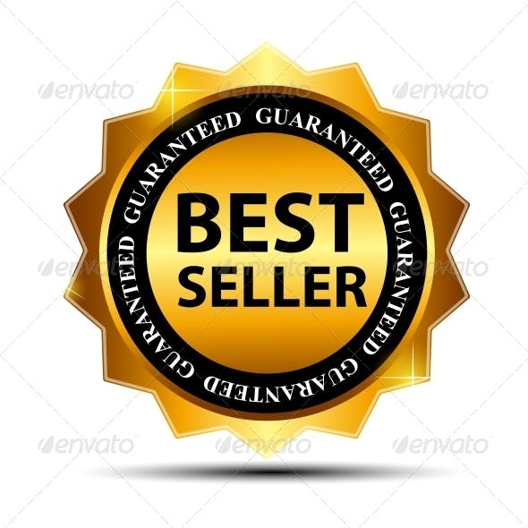Vector Best Seller Label Sticker