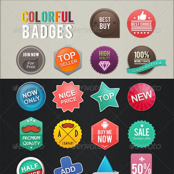 Colorful Badges
