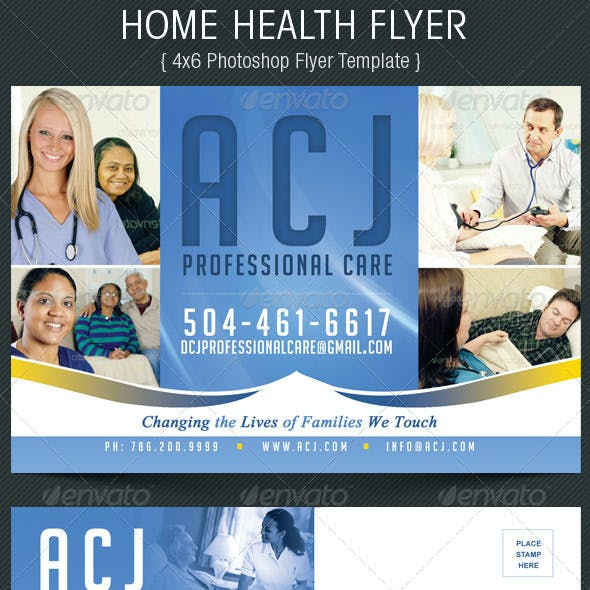 Home Health Flyer Template