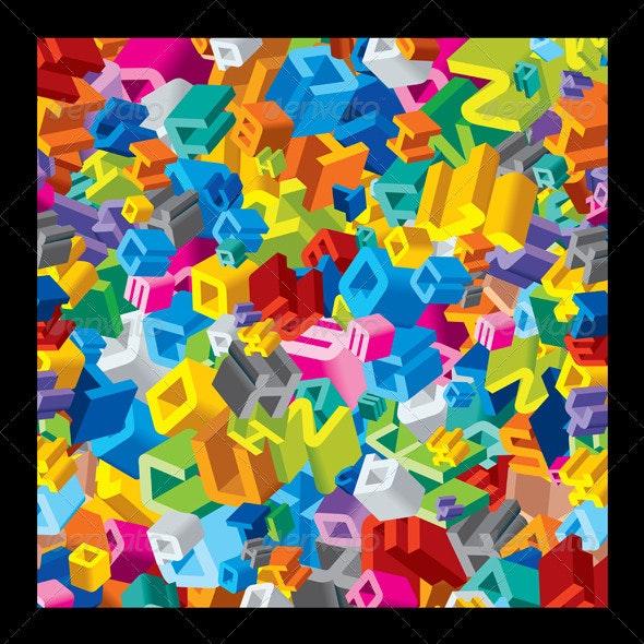 Letter Pattern - Backgrounds Decorative