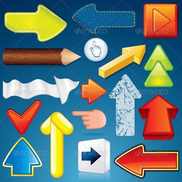 Advertising Arrows - Decorative Symbols Decorative