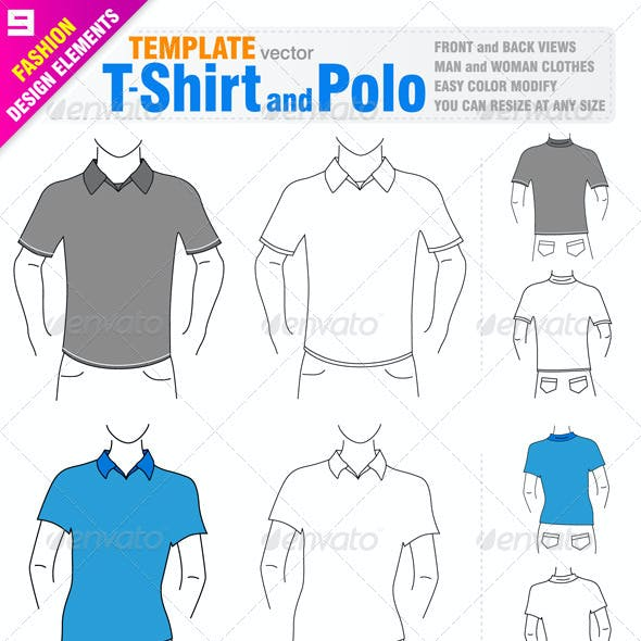 T-shirt and Polo Templates