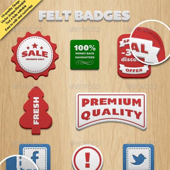 Felt Badges