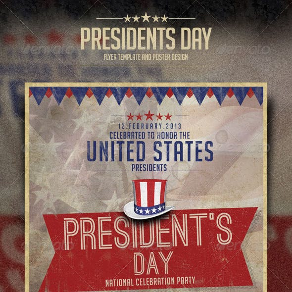 President's Day Celebration Flyer