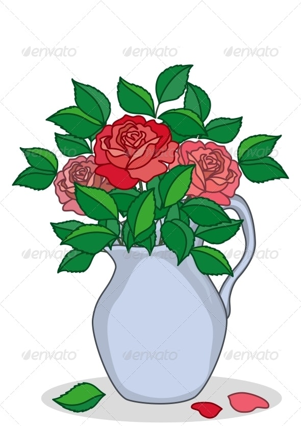 Jug with Roses - Flowers & Plants Nature