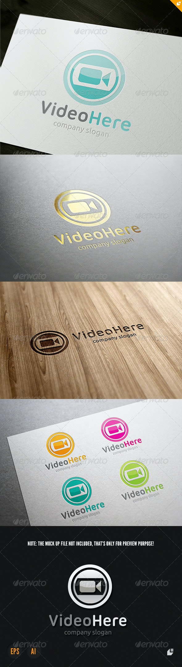 Video Here Logo - Vector Abstract