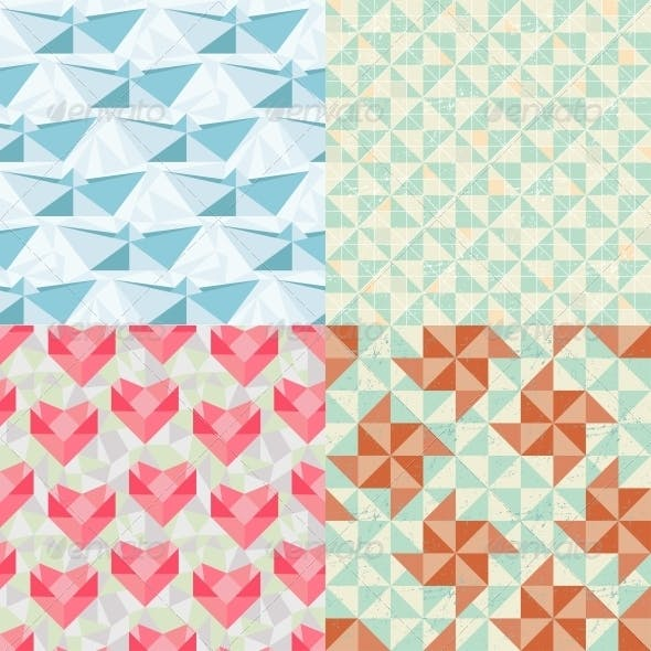 Seamless Geometric Patterns with Origami Elements.