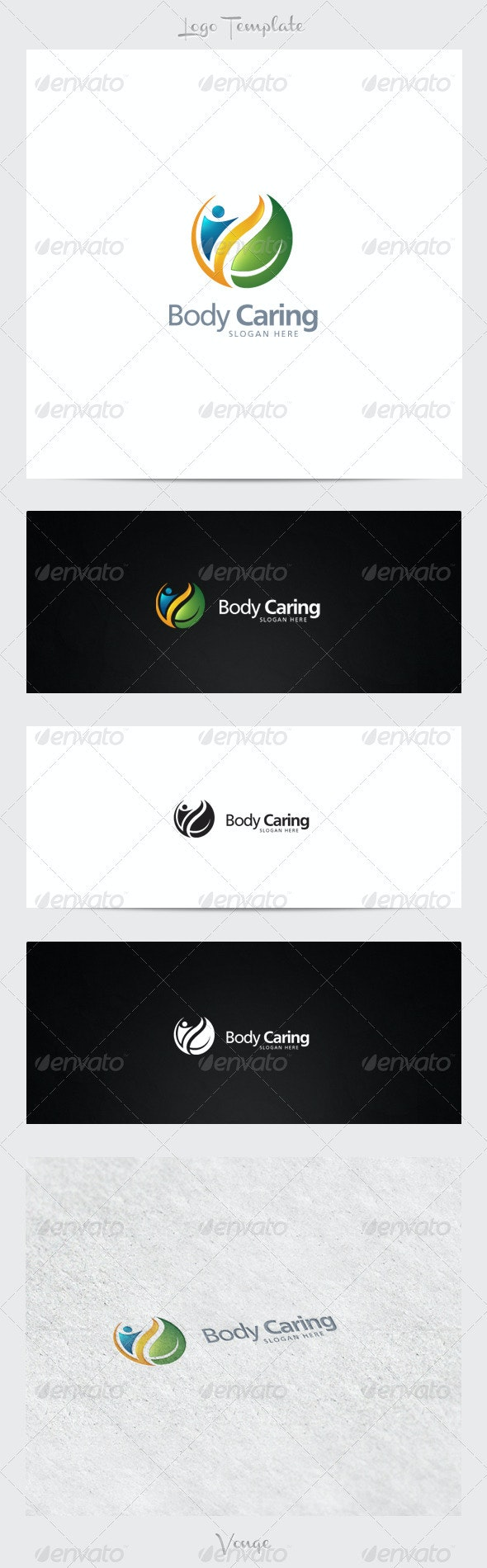 Body Caring - Nature Logo Templates