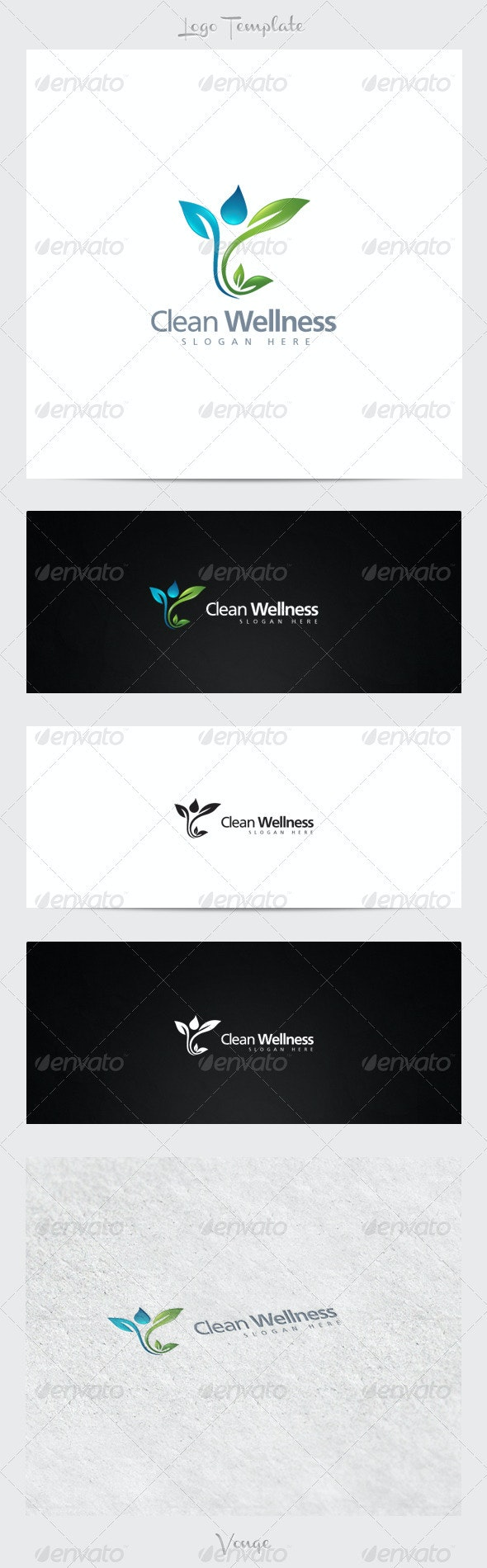 Clean Wellness - Nature Logo Templates