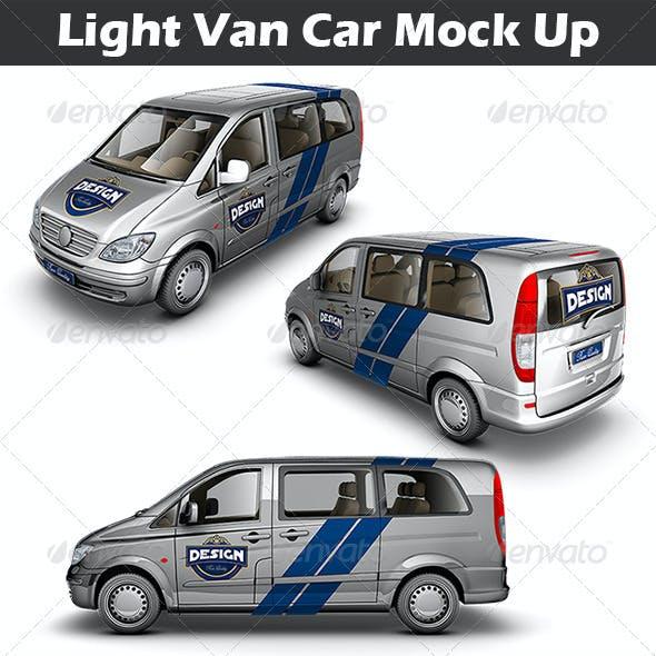 Light Van Car Mock Up