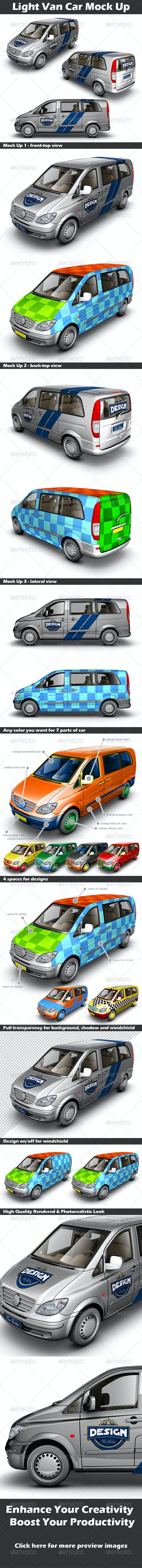 Light Van Car Mock Up - Vehicle Wraps Print
