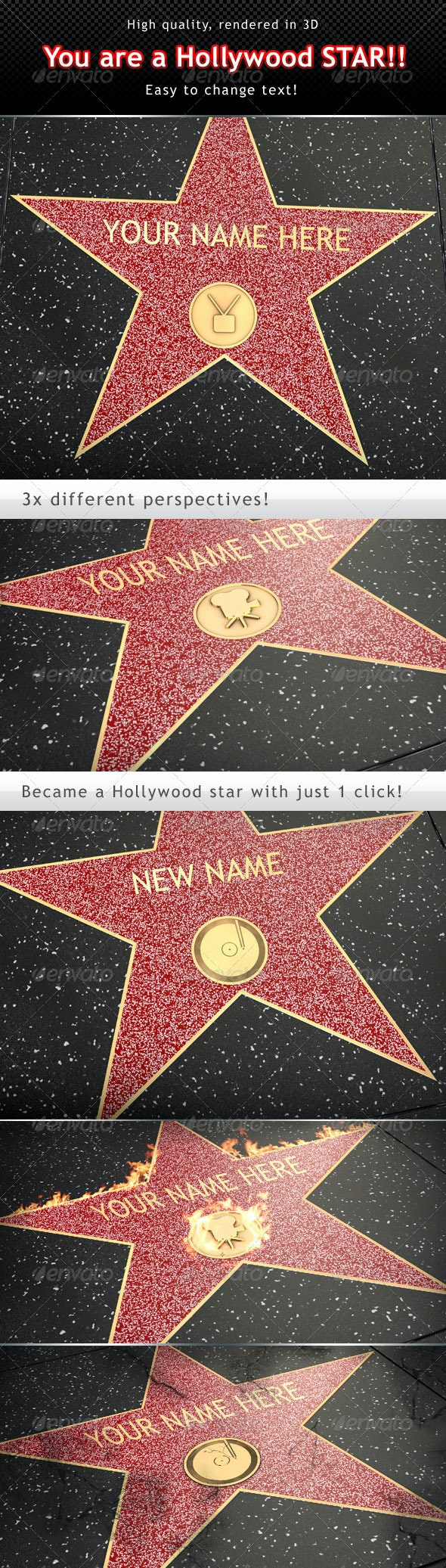 You are a Hollywood Star - Miscellaneous Product Mock-Ups