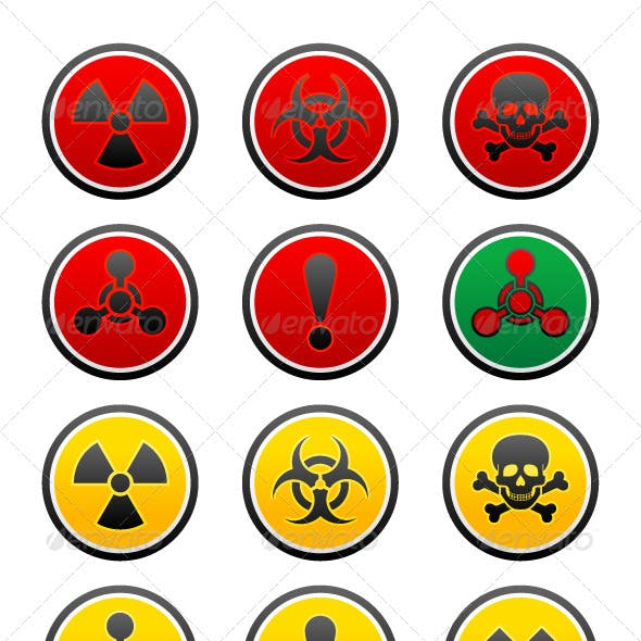 Symbols of Hazard on the Round Buttons