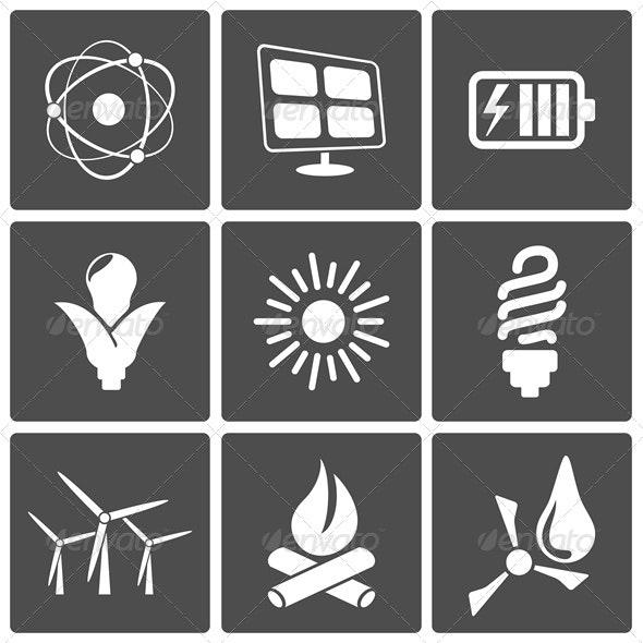 Energy Icons - Web Elements Vectors