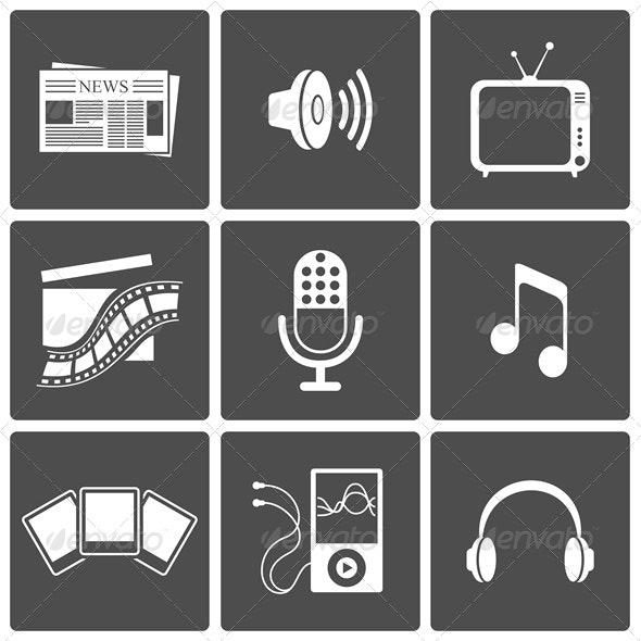 Media Icons - Web Elements Vectors