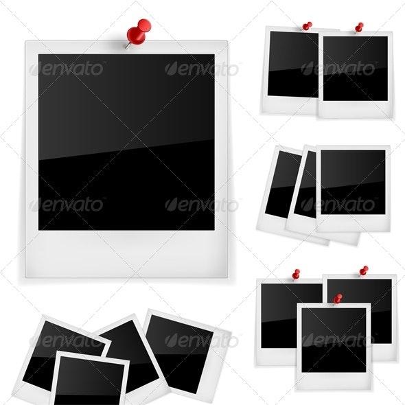 Polaroid Frames Photo - Backgrounds Decorative
