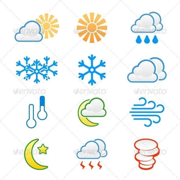 Weather Icons - Web Elements Vectors