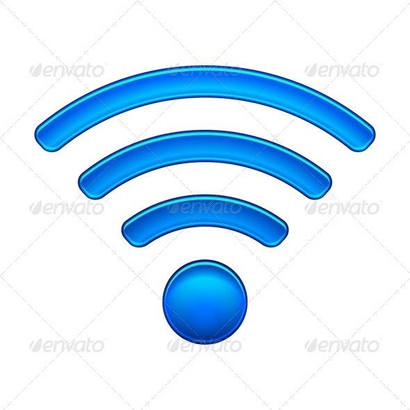Wireless Network Wifi Icon - Technology Conceptual
