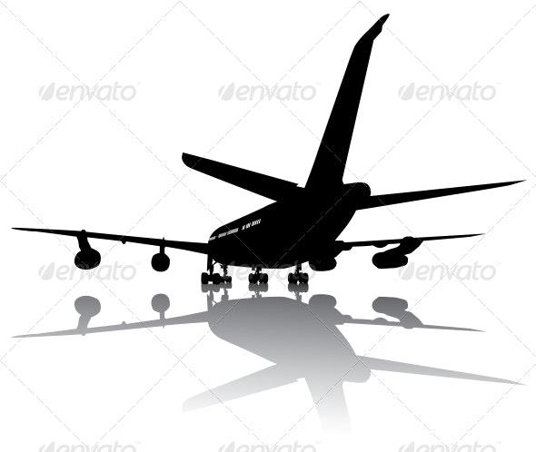 Aircraft Silhouette - Travel Conceptual