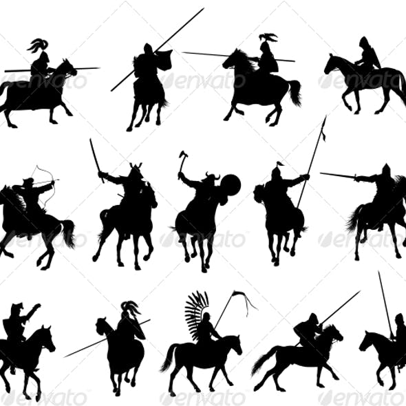 Vector Horsemen Set