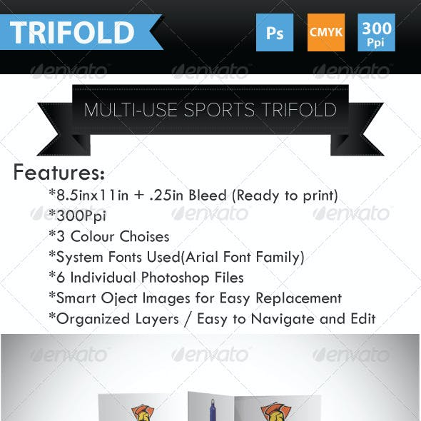 Multi-use Sports Brochure Trifold