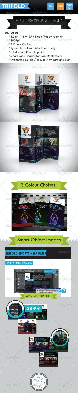 Multi-use Sports Brochure Trifold - Corporate Brochures