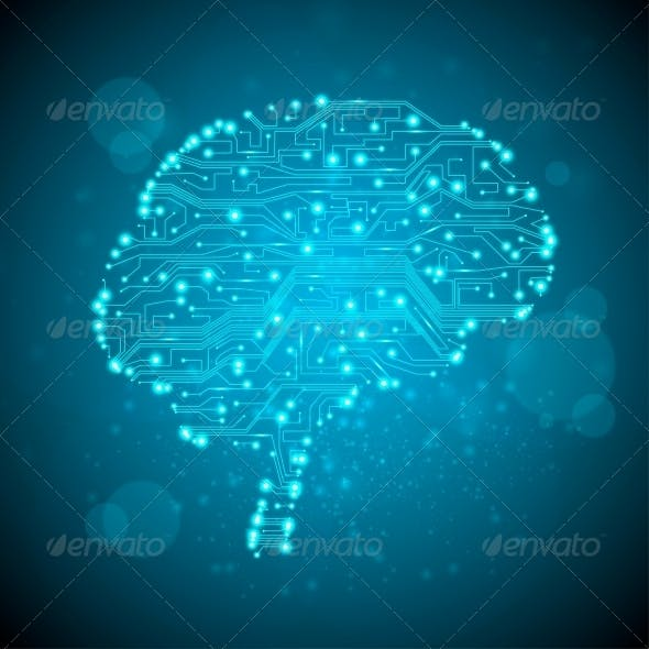 Circuit Board Form of a Brain