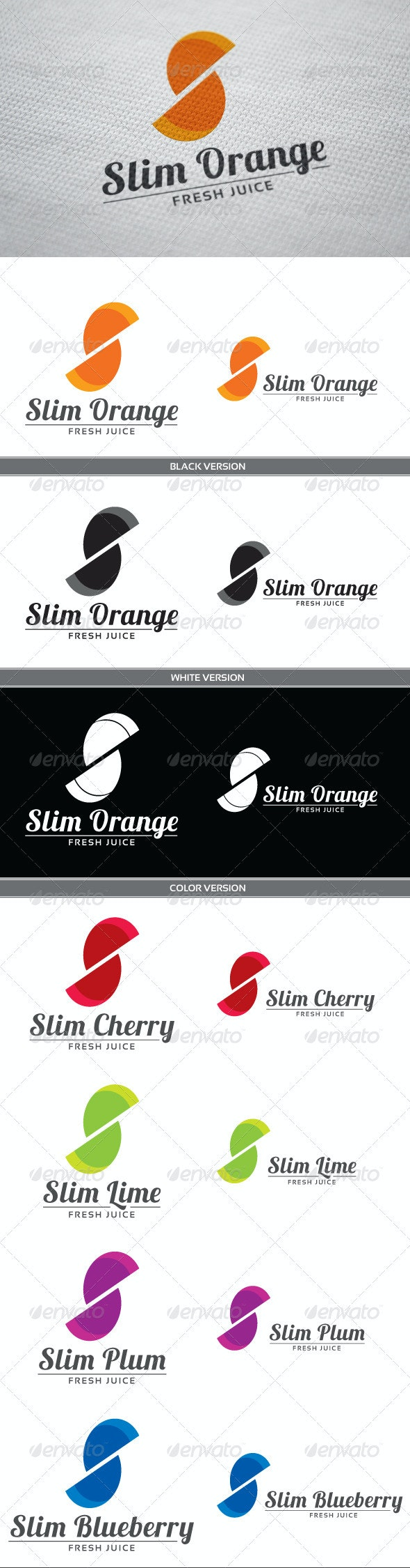 Slim Orange - Letters Logo Templates