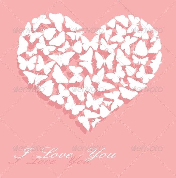 I Love You. Valentine's Day card - Valentines Seasons/Holidays