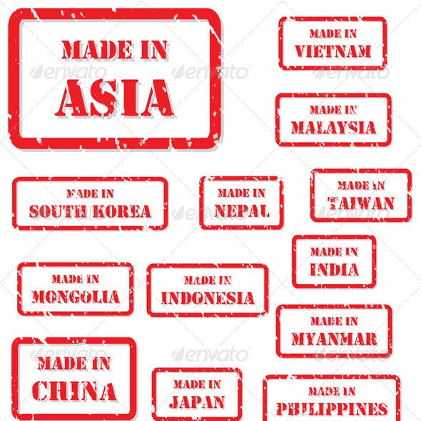 Made in Asia Rubber Stamps