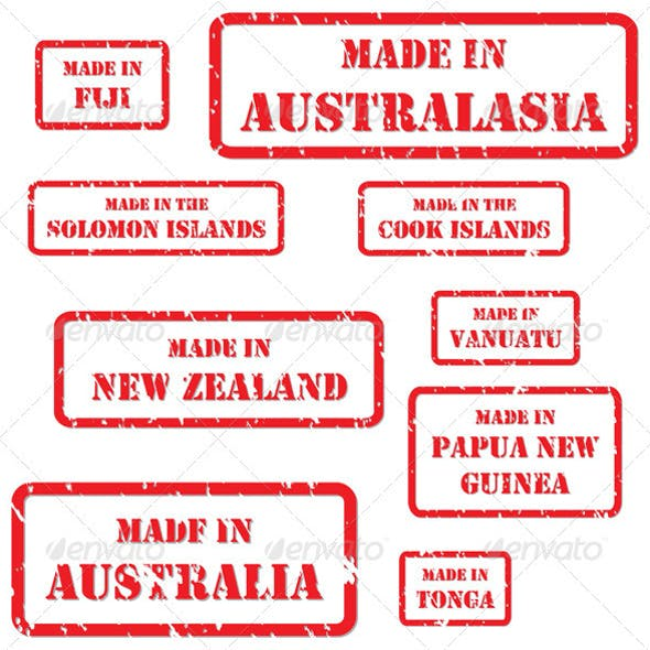Made in Australasia Rubber Stamps