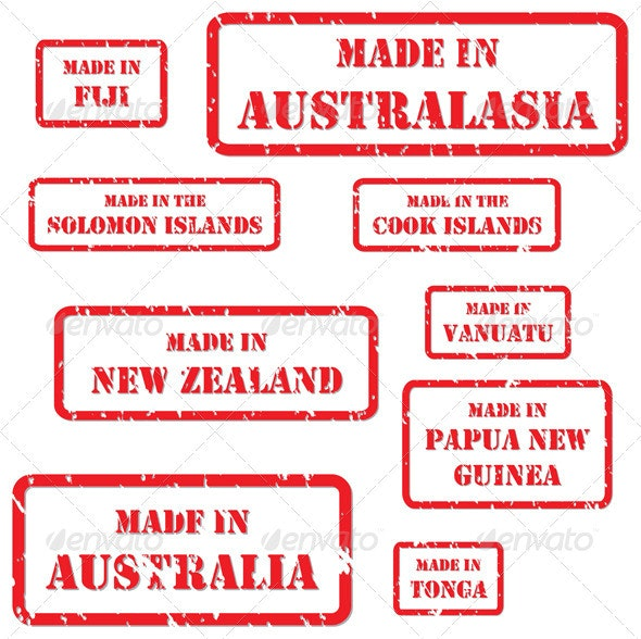 Made in Australasia Rubber Stamps - Concepts Business